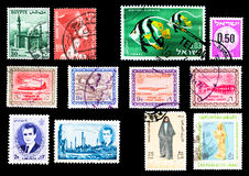 Timbres-poste - Moyen-Orient Image stock