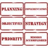 Timbres stratégiques de plan illustration de vecteur
