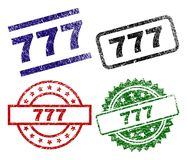 777 timbres texturisés endommagés de joint Illustration Libre de Droits
