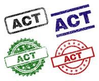 Timbres texturisés endommagés de joint d'ACTE illustration de vecteur