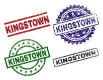 Timbres texturisés endommagés de joint de KINGSTOWN illustration libre de droits