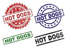 Timbres texturisés rayés de joint de HOT-DOGS illustration libre de droits