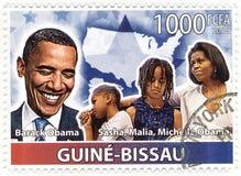 Timbri con il quarantaquattresimo Presidente degli S.U.A. - Barack Obama Immagini Stock Libere da Diritti