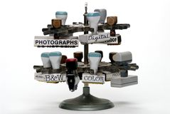 Timbri di gomma dell'ufficio di fotographia Fotografie Stock Libere da Diritti