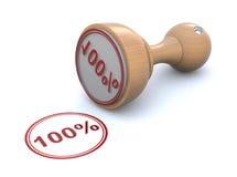Timbro di gomma - 100% Fotografie Stock