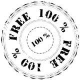 Timbro di gomma: 100% libero Fotografia Stock