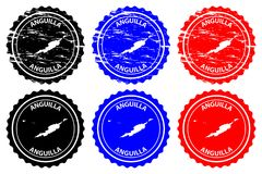 Timbro di gomma di Anguilla Immagini Stock Libere da Diritti