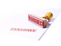 Timbro di gomma CENSURATO Immagini Stock Libere da Diritti