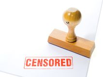 Timbro di gomma CENSURATO Fotografie Stock Libere da Diritti