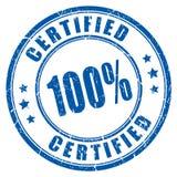 timbro di gomma certificato 100 Fotografia Stock Libera da Diritti