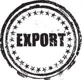 Timbro di gomma con l'esportazione del testo Fotografia Stock
