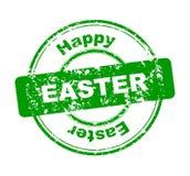 Timbro di gomma con Pasqua felice Immagine Stock Libera da Diritti