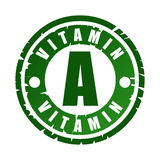 Timbro di gomma con vitamina A Immagine Stock
