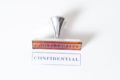 Timbro di gomma confidenziale Fotografia Stock