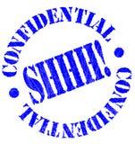 Timbro di gomma confidenziale illustrazione di stock