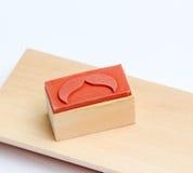 Timbro di gomma dei baffi Concetto di consapevolezza di salute del ` s degli uomini di Movember Fotografie Stock Libere da Diritti