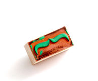 Timbro di gomma dei baffi Concetto di consapevolezza di salute del ` s degli uomini di Movember Fotografie Stock