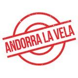 Timbro di gomma dei veli della La dell'Andorra fotografia stock libera da diritti