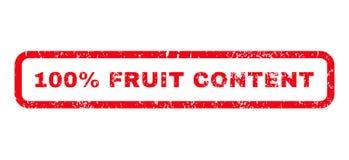 timbro di gomma del contenuto della frutta di 100 per cento Immagini Stock Libere da Diritti