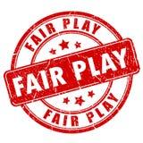 Timbro di gomma del fairplay Immagine Stock