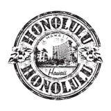 Timbro di gomma del grunge di Honolulu   Fotografia Stock Libera da Diritti