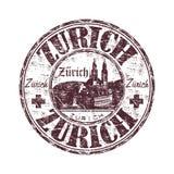 Timbro di gomma del grunge di Zurigo Immagini Stock
