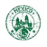 Timbro di gomma del Messico Fotografia Stock