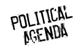 Timbro di gomma dell'agenda politica illustrazione vettoriale