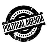 Timbro di gomma dell'agenda politica illustrazione di stock