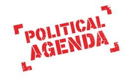 Timbro di gomma dell'agenda politica royalty illustrazione gratis