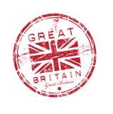 Timbro di gomma della Gran Bretagna Fotografia Stock