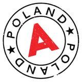 Timbro di gomma della Polonia Immagine Stock