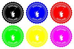 Timbro di gomma della Scozia royalty illustrazione gratis