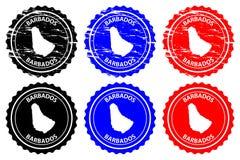 Timbro di gomma delle Barbados Fotografia Stock Libera da Diritti