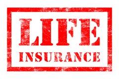 Timbro di gomma di assicurazione sulla vita Fotografia Stock