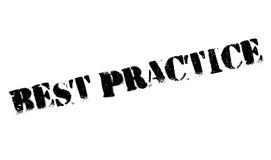 Timbro di gomma di best practice Fotografie Stock