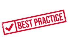 Timbro di gomma di best practice Illustrazione di Stock