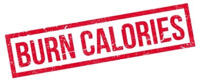 Timbro di gomma di calorie dell'ustione royalty illustrazione gratis