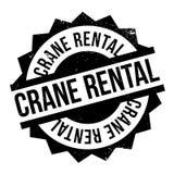 Timbro di gomma di Crane Rental Fotografia Stock Libera da Diritti