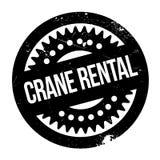 Timbro di gomma di Crane Rental Immagine Stock Libera da Diritti