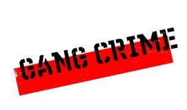 Timbro di gomma di crimine del gruppo Immagine Stock