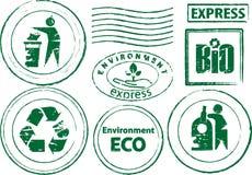 Timbro di gomma di Eco. Fotografia Stock