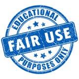 Timbro di gomma di fair use Fotografie Stock Libere da Diritti