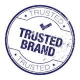 Timbro di gomma di fiducia di marca Fotografia Stock