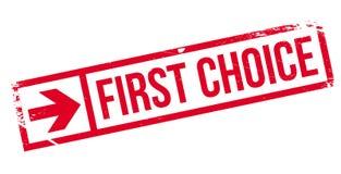 Timbro di gomma di First Choice illustrazione di stock