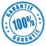 Timbro di gomma di garanzia di lingua tedesca Fotografia Stock