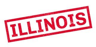 Timbro di gomma di Illinois Fotografia Stock Libera da Diritti