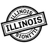 Timbro di gomma di Illinois Fotografie Stock