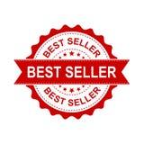 Timbro di gomma di lerciume del best-seller Illustrazione di vettore sulle sedere bianche Immagini Stock