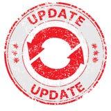 Timbro di gomma di lerciume dell'aggiornamento su bianco illustrazione vettoriale